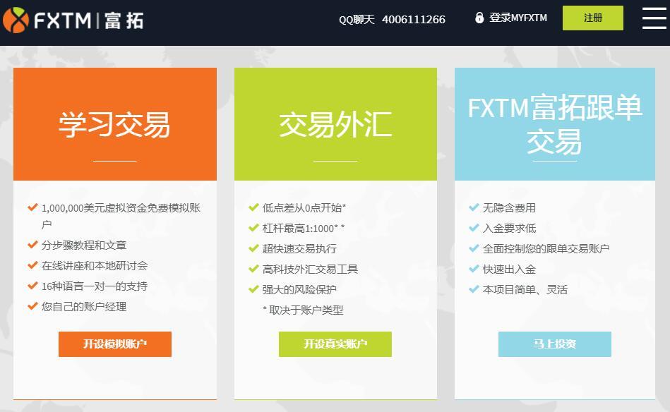 FXTM富拓外汇开户入金流程(详细图解)