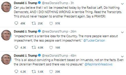 美国政坛历史性时刻 特朗普成为史上第三位遭弹劾总统!