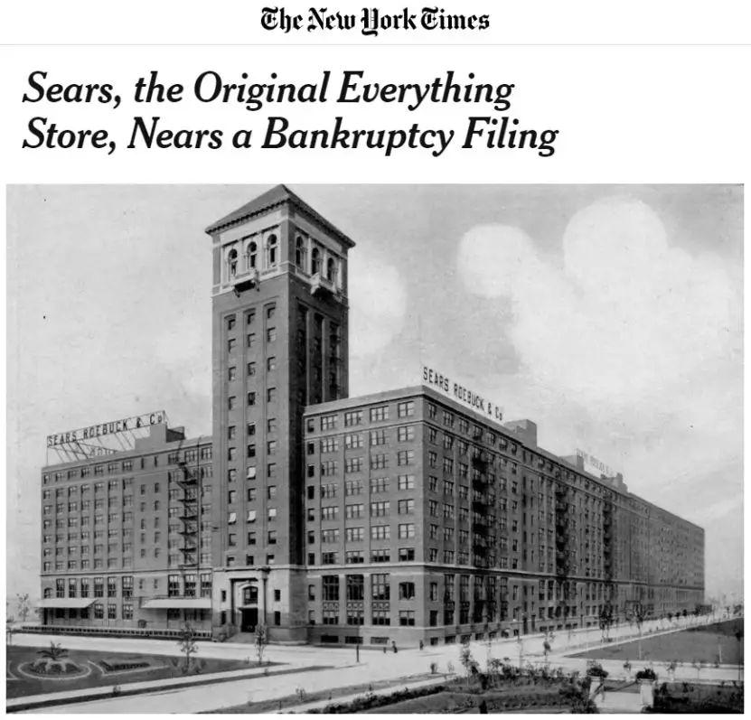 美国零售业出现倒闭潮,百年老店快死了