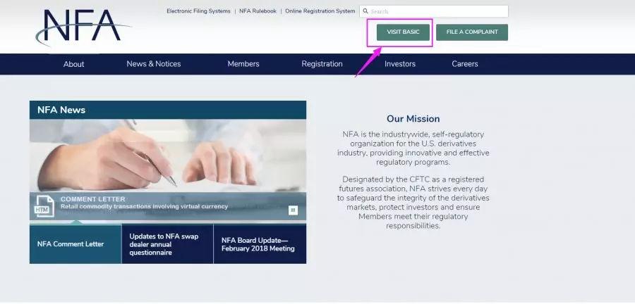 nfa监管平台查询,如何查询nfa监管