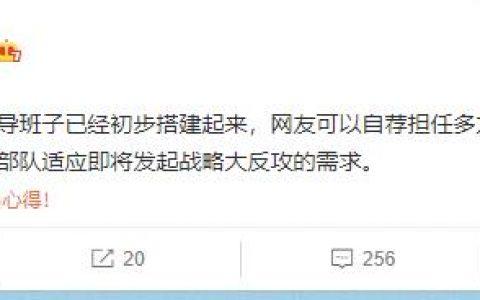 李大霄:多方部队即将发起战略大反攻 欢迎网友自荐担任领导岗位