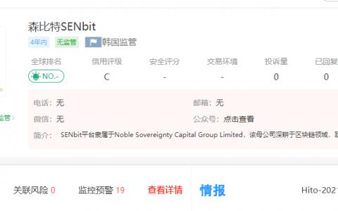 森比特SENbit外汇平台是由哪个机构监管的?