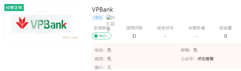 VPBank外汇平台怎么样